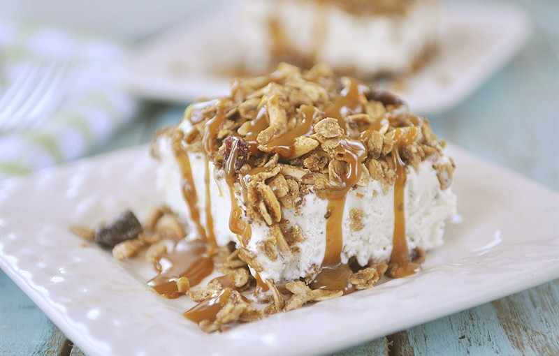 Granola Ice Cream Sandwiches