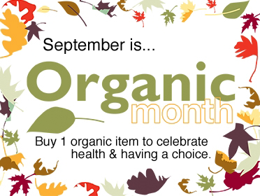 September is Organic Month