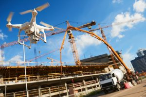 Drone use on construction sites